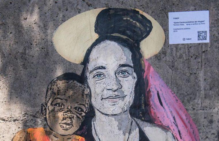 La comunicazione non verbale dell'arte: murale di Tvboy rovinato da un leghista